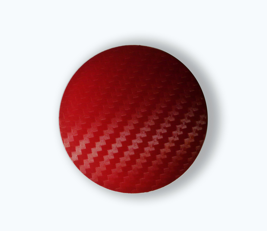 Carbon Red wheel center caps 52 mm - free shipping