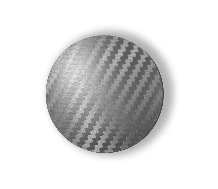 Carbon Silver wheel center caps 52 mm - free shipping