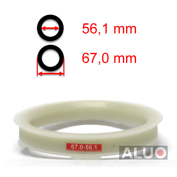 Hub centric - spigot rings 67,0 - 56,1 mm ( 67.0 - 56.1 ) - free shipping