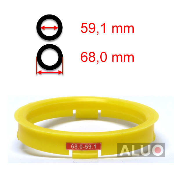 Hub centric - spigot rings 68,0 - 59,1 mm ( 68.0 - 59.1 ) - free shipping