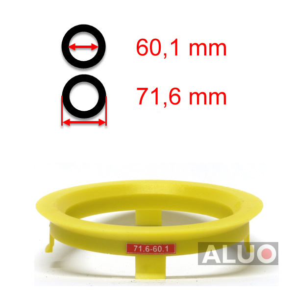 Hub centric - spigot rings 71,6 - 60,1 mm ( 71.6 - 60.1 ) - free shipping