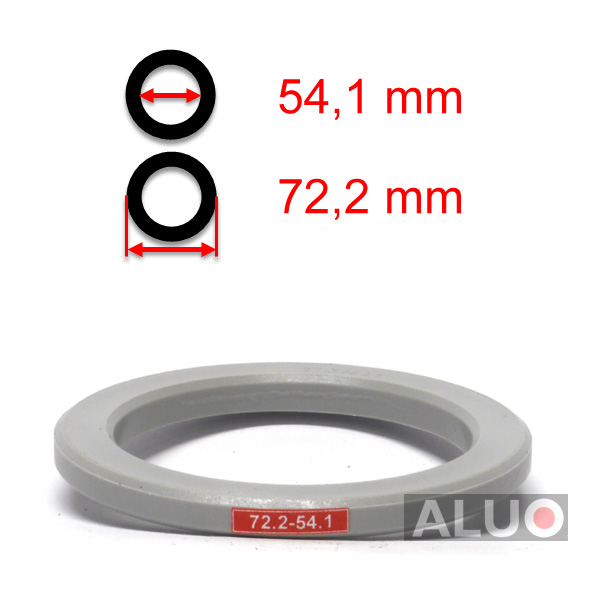 Hub centric - spigot rings 72,2 - 54,1 mm ( 72.2 - 54.1 ) - without lip - free shipping