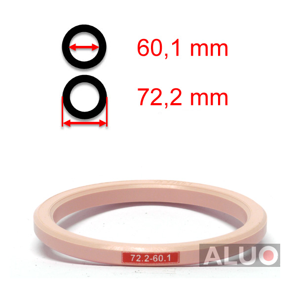 Hub centric - spigot rings 72,2 - 60,1 mm ( 72.2 - 60.1 ) - without lip - free shipping