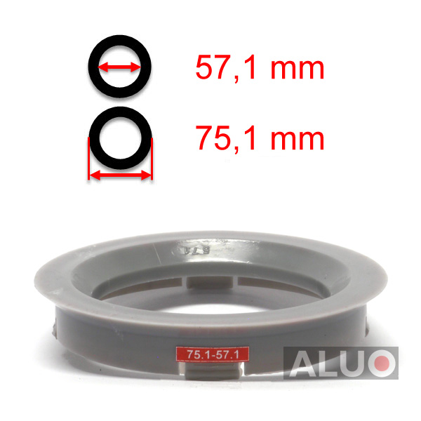 Hub centric - spigot rings 75,1 - 57,1 mm ( 75.1 - 57.1 ) - free shipping