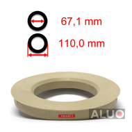 Hub centric - spigot rings 110,0 - 67,1 mm ( 110.0 - 67.1 ) - free shipping