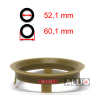 Hub centric - spigot rings 60,1 - 52,1 mm ( 60.1 - 52.1 ) - free shipping