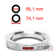 SPIGOT RINGS 56,6 mm - 54,1 mm HUB CENTRIC RINGS 56.6 to 54.1 FREE SHIPPING