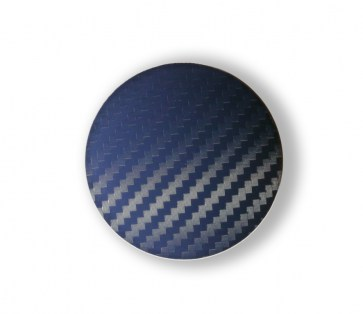 Carbon Blue wheel center caps 52 mm - free shipping